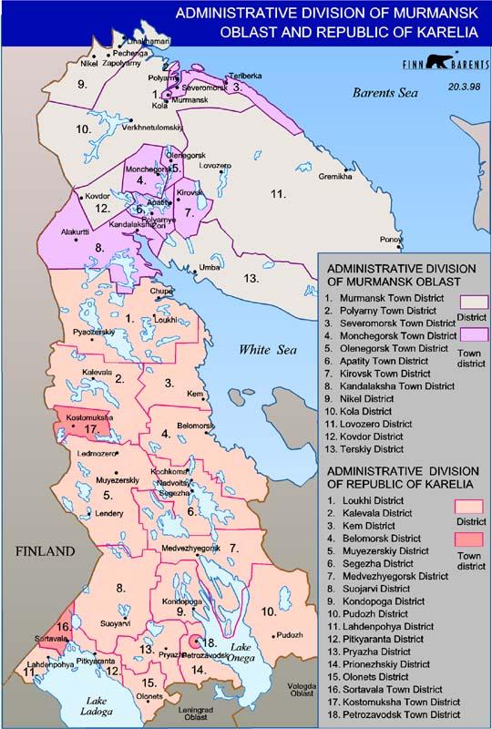 Maps From The Barents Region Wwwbarentsinfoorg Barentsinfo - Norway vegetation map
