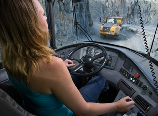 Transporting ore in the Arvidsjaur mine in northern Sweden. Photo Erland Segerstedt